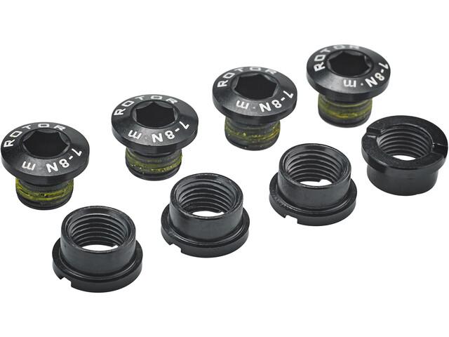 Rotor MTB XC2 SRAM XX Kettenblattschrauben 4 Schrauben / 4 Muttern schwarz